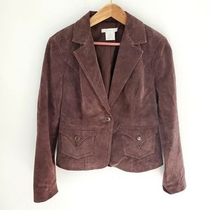 Charlotte Russe Brown Leather Blazer